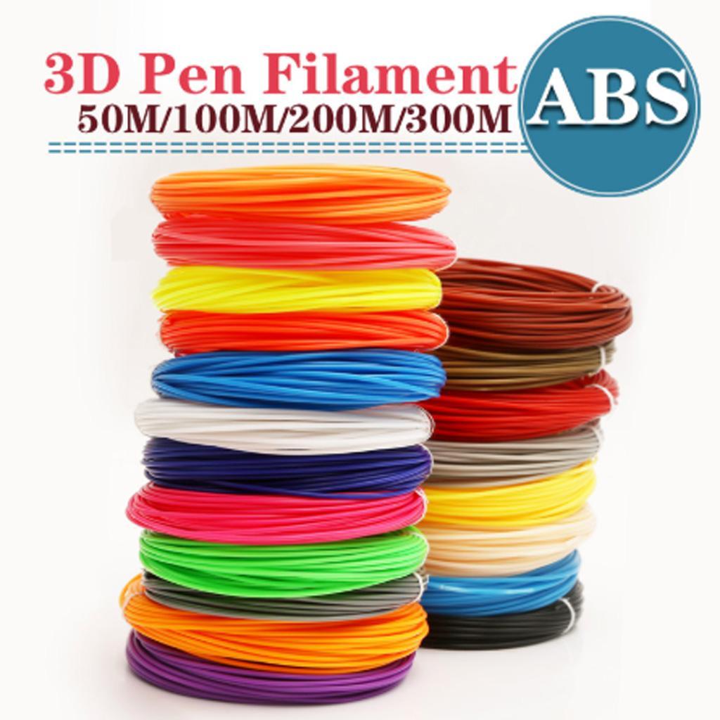 20 Colors 100m//50m 3D Printer Filament 1.75mm PLA multiple MakerBot RepRap Pen