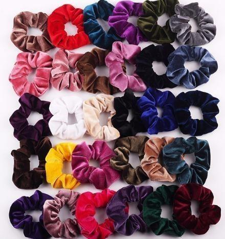 Pour Femmes Queue de Cheval Titulaire Chouchous élastique cheveux Anneau Velours cheveux corde