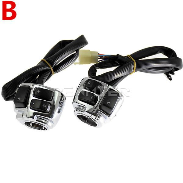 Motorcycle Protector Motorcycle 1 25m Handlebar Control Switch With Wiring Harness For Harley Dyna Softail Sportster 883 1200 V-ROD 1996-2012