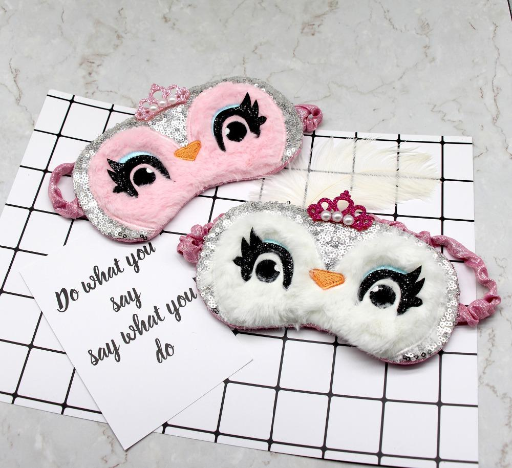 Cartoon Sleeping Mask Eye Shade Cover Patch pour fille Kid ados Blindfold maquillage voyage accessoires pour enfants