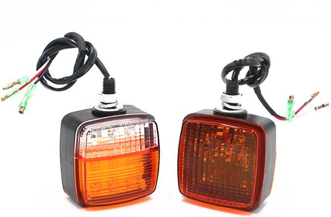 2pcs universal 10-80v 12v 24v 48v levou cauda empilhadeira acende elevador popular parada luzes de advertência reverso lâmpada traseira