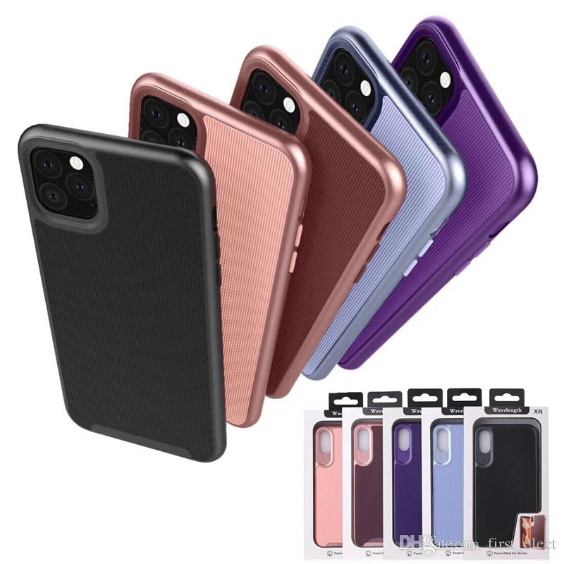Etui de téléphone hybride antichoc Armor pour iPhone 11 Pro Max 11 X Max XR X 8 7 plus Samsung S10 Plus Note 10 Pro Note 10 Avec Emballage