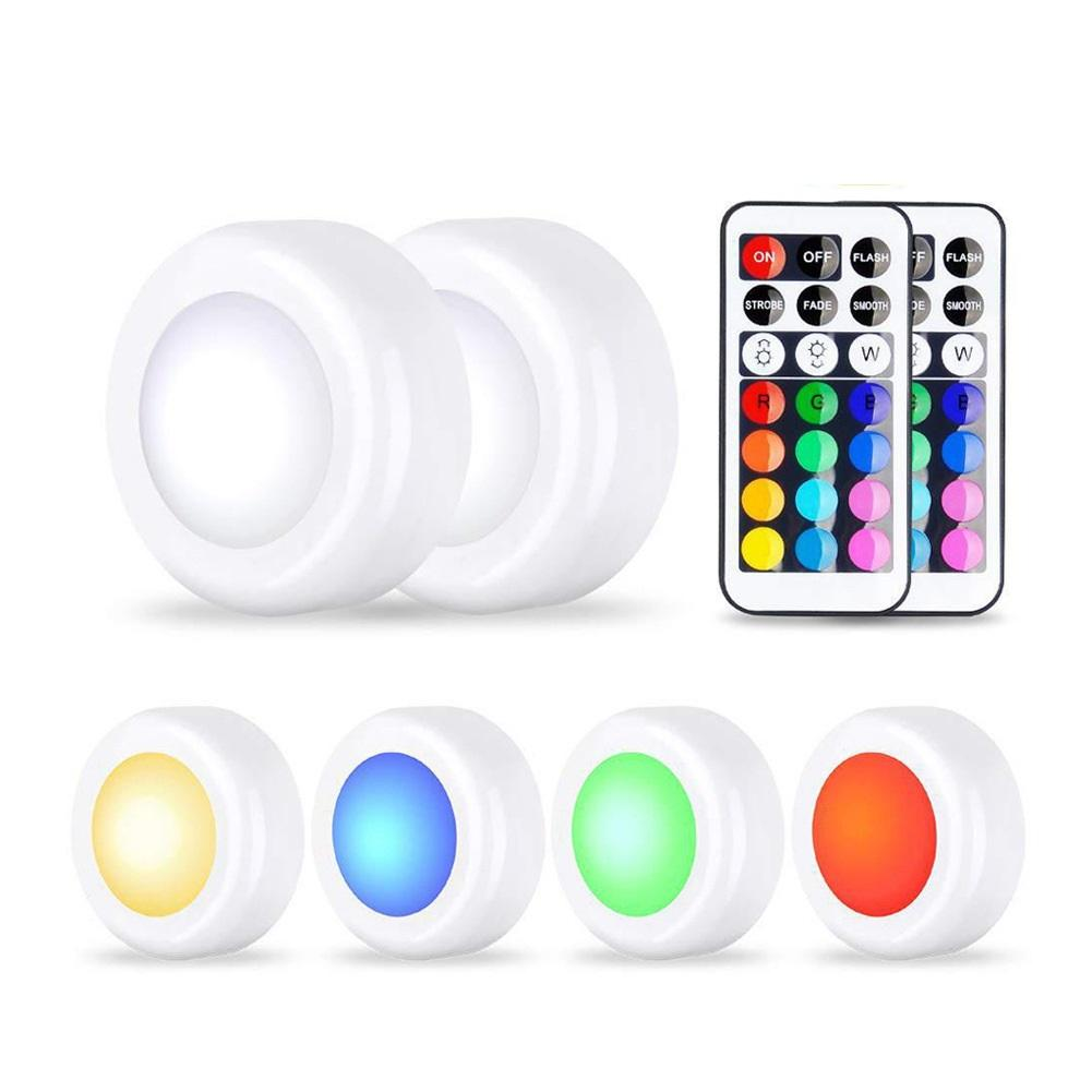 Wireless Led Puck Lights With Remote Control, Under Cabinet Lighting, Dimmable Closet Light