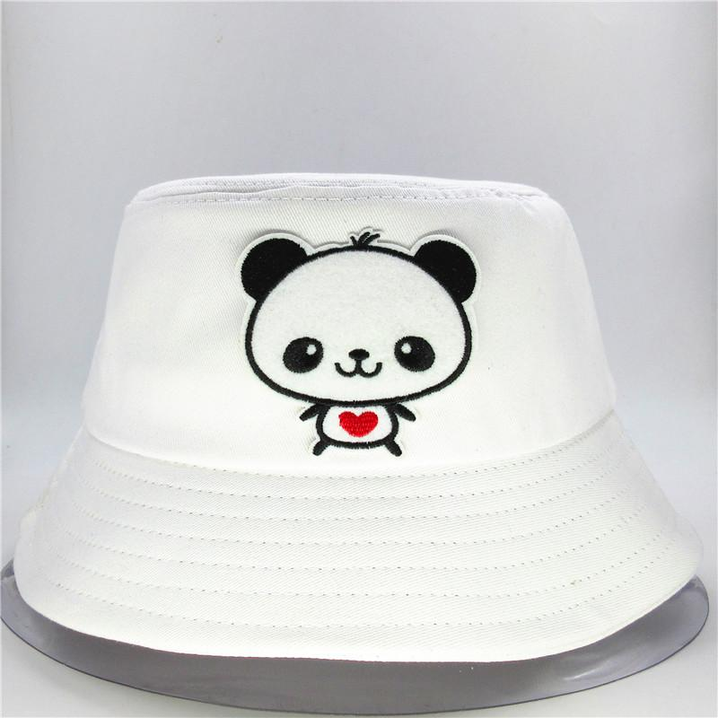 The new style Cartoon panda embroidery Bucket Hat Fisherman Hat outdoor travel Sun Cap Hats for child men and Women 178