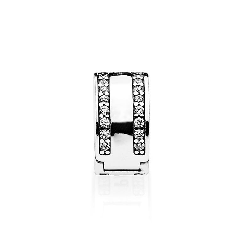 Оптово шарма силиконового зажим для Пандора 925 стерлингового серебро темперамента высокого качества браслет аксессуары с оригинальной коробкой