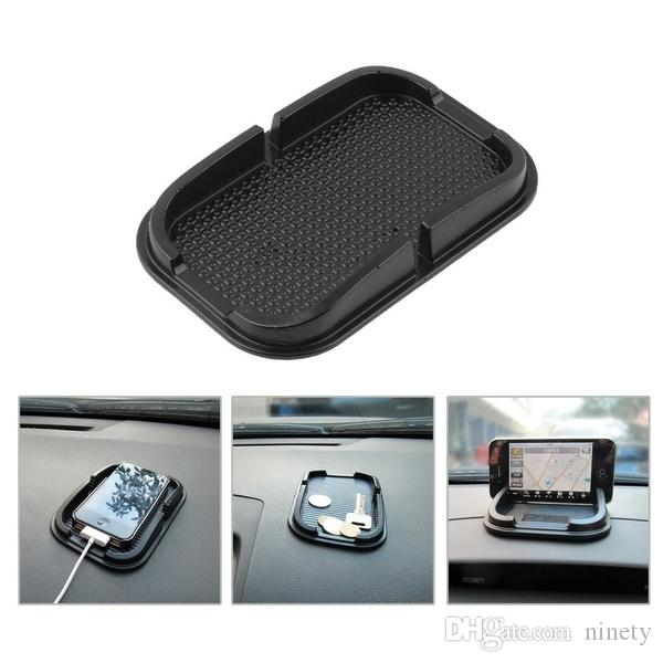 Fashion Phone Mount Car Dashboard Sticky Pad Mat Anti Non Slip Gadget Mobile Phone GPS Holder Black (Color: Black)