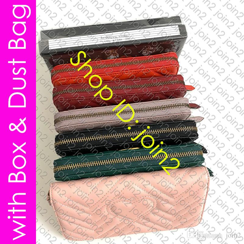 443123 BOUCLE Hardware MARMONT ZIPPÉ WALLET Chevron cuir pour femmes Designer Zippy Wallet Card Key Holder poche Cle Porte-monnaie Pochette