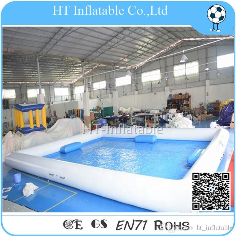 الشحن مجانا 6 * 6 م حمامات السباحة نفخ بركة سباحة في الهواء الطلق العملاق مخصص بركة مياه للبيع