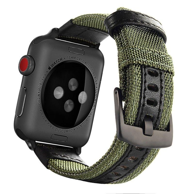 Military Nylon Watch Loop Strap for Apple Watch 1/2/3/4/5 Wrist Bracelet Sports Band for Iwatch 38mm 40mm 42mm 44mm Leather Watch Band