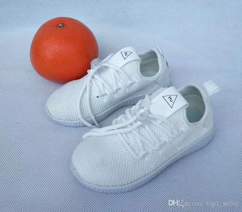 2020 Pharrell insan ırkı Trail Çocuk koşu ayakkabıları erkek kız genç çocuk spor Sneaker boyutu 22-35