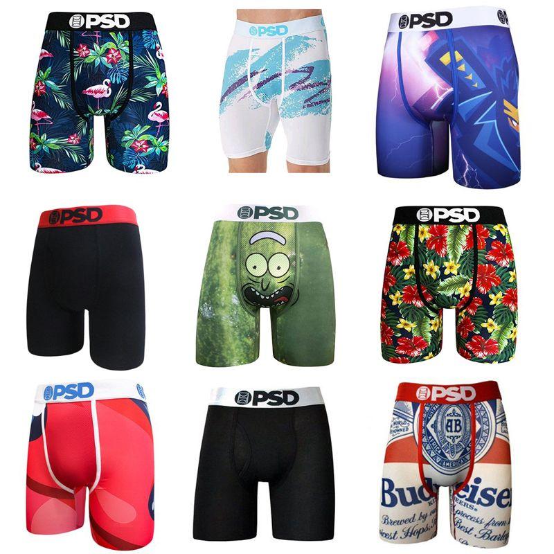 styles au hasard sous-vêtements PSD unisexe boxeurs Breif rue des sous-vêtements accise rock hip hop de sport de planche à roulettes motif mode étirées S-2XL
