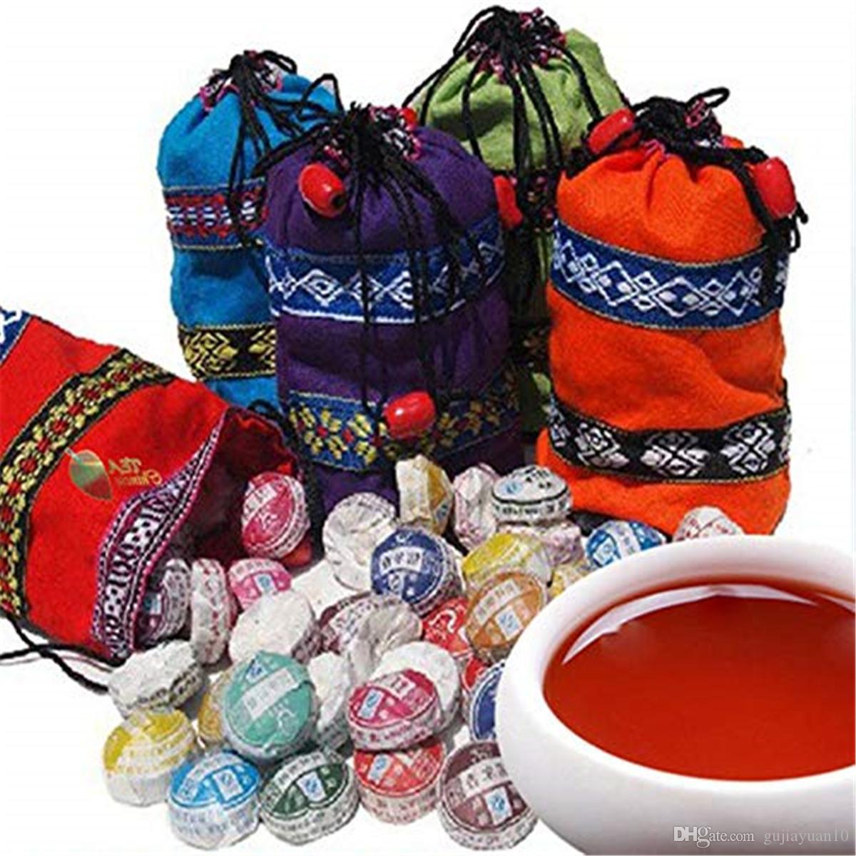 210 ~ 250г Юньнань 10 видов различных вкусов чая пуэр Рекомендуемые сырцового Пуэр Чай Органические Природный Старое дерево пуэр чай Preferred