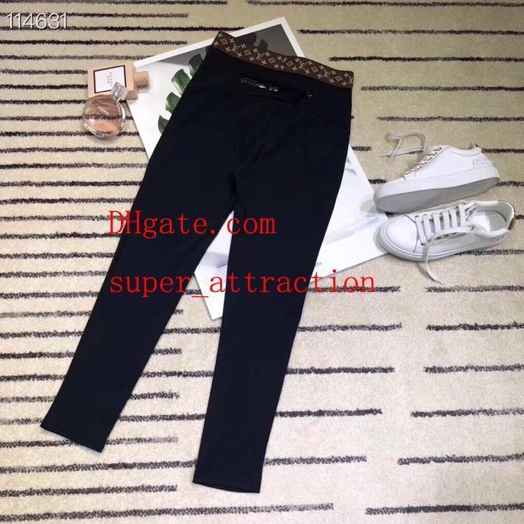 Kadın pantolon Moda Kadınlar Casual Tayt Siyah Elastik Pantolon Eşofman Altları Artı Boyutu moda ince delik spor Tayt pantolon 51