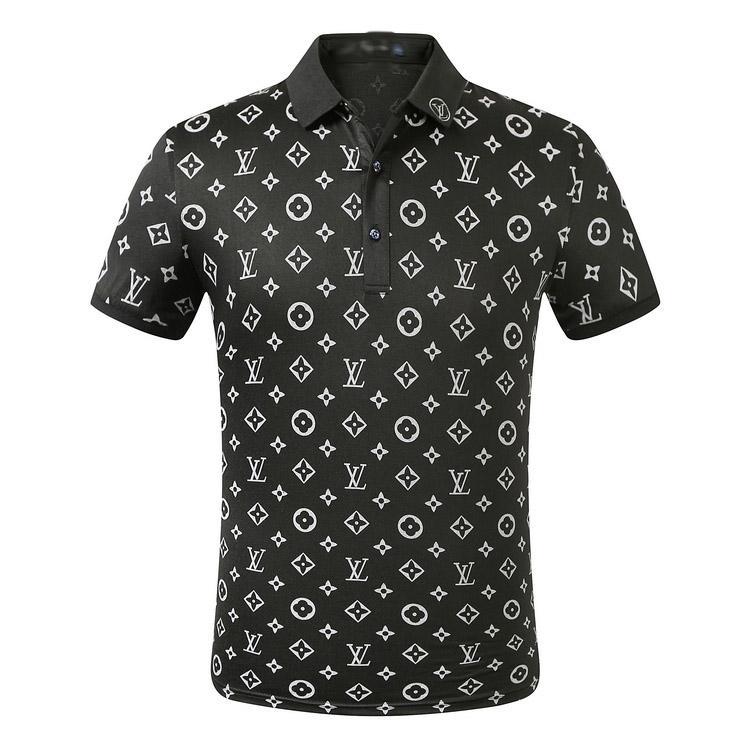 Designer Polo Uomini Uomini della maglietta di polo di polo di lusso casuale Snake Letter Bee Stampa ricamo di alta moda di strada Mens Polo PoloS02 casuale