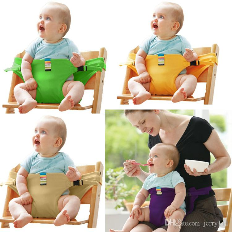 8 Colors Baby Portable Seat Children Dining Chair Belt Candy colors Eat Chair Seat Belt Dining Seat Harness Baby Belt Safety DHL FJ253