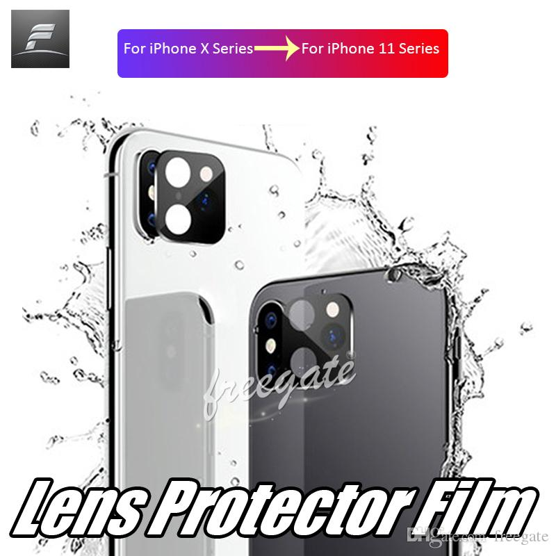 Kamera lins glasfilm för iPhone XR XS Max sekunder Byte för iPhone 11 Pro Max Len Metal Back Screen Protector Film FreeGate