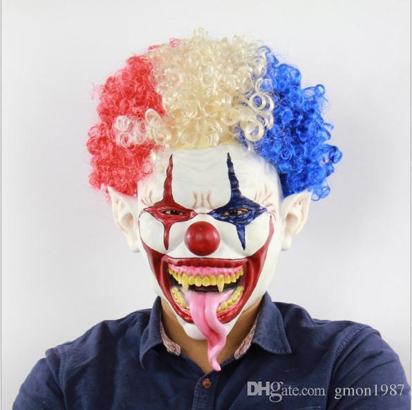 Evil Joker Wig Fancy Dress Accessory in Polybag