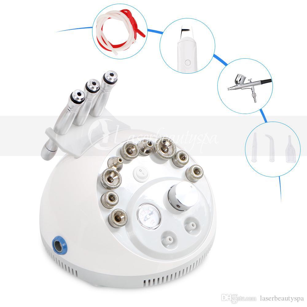 4in1 Microdermabrasión Máquina Cuidado de la piel Hydra Piel Peeling Pergamador Scrubber Blackhead Remoal Equipos de belleza Uso del hogar
