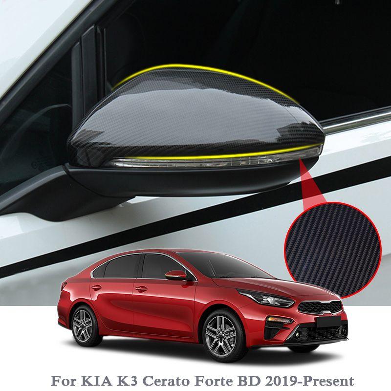 2pcs Car Styling Для Kia K3 Cerato Forte BD 2019- Present ABS хром зеркало заднего вида Блестки крышка уравновешивания Внешние аксессуары