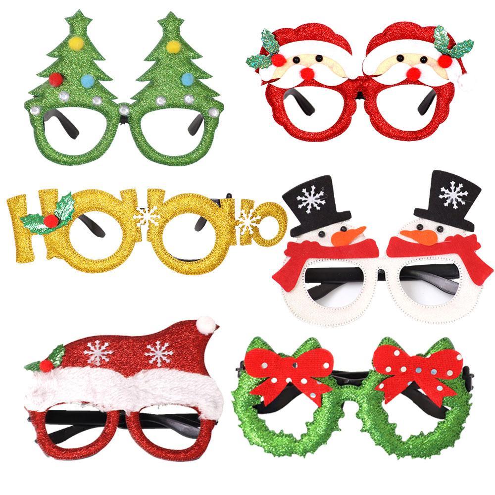 gafas de decoración de Navidad con el muñeco de nieve de Santa gafas de asta de adultos fuentes del partido juguetes vacaciones de los niños DHL XD22219 entrega