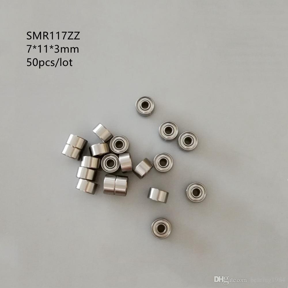 50 pz / lotto spedizione gratuita SMR117ZZ SMR117 ZZ ABEC-5 cuscinetti a sfera in acciaio inox miniatura 7x11x3mm cuscinetti radiali a sfere 7 * 11 * 3mm