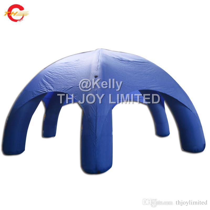 Tenda inflável da aranha do azul do diâmetro de 8m com pés fábrica inflável barata do abrigo da barraca do gramado dos eventos do arrendamento do partido do carnaval da abóbada