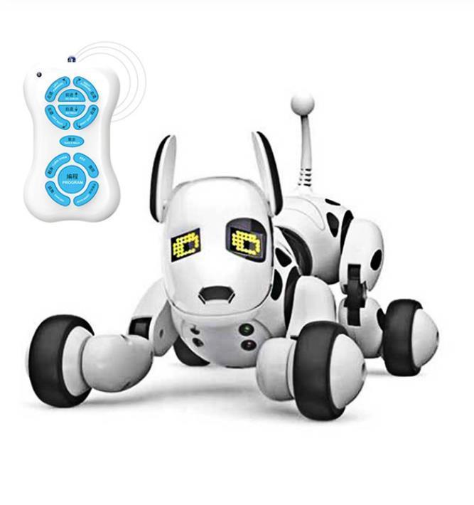 새 원격 제어 스마트 로봇 개 프로그래머블 2.4G 무선 어린이 장난감 지능형 말하는 로봇 개 전자 애완 동물 아이 선물