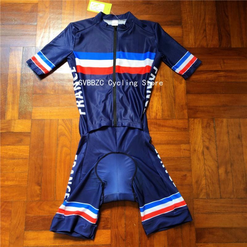 أحدث فرنسا للدراجات Skinsuit الرجال الترياتلون ملابس رياضية الطريق للدراجات الملابس ملابس دي Ciclismo المواضيع المتميزة مجموعة