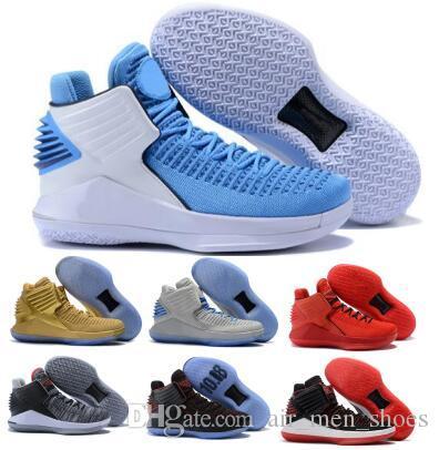 32 32s Pattini Volo di pallacanestro per gli uomini Mens blu Capodanno cinese Finale Jumpman XXXII alta qualità 2020 Nuovo poco costoso Pattini degli addestratori delle scarpe da tennis