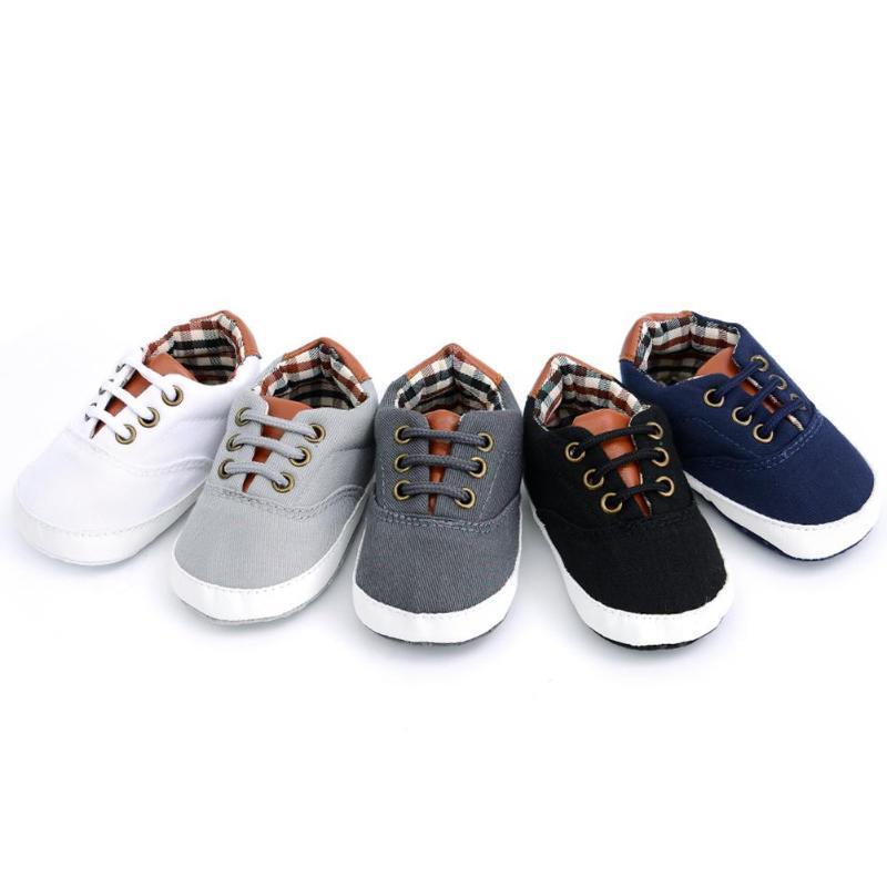 Yürüyor bebek Bebek Elastik Prewalker Ayakkabı Yumuşak Taban Tuval İlk Walker Ayakkabı Dantel Rahat Sneaker Unisex Çocuk Tüm Mevsim