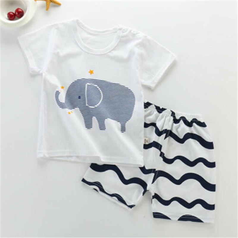 Baby Boy Kid Tops T Shirt Summer Short Sleeve T Shirt Striped Top Clothing