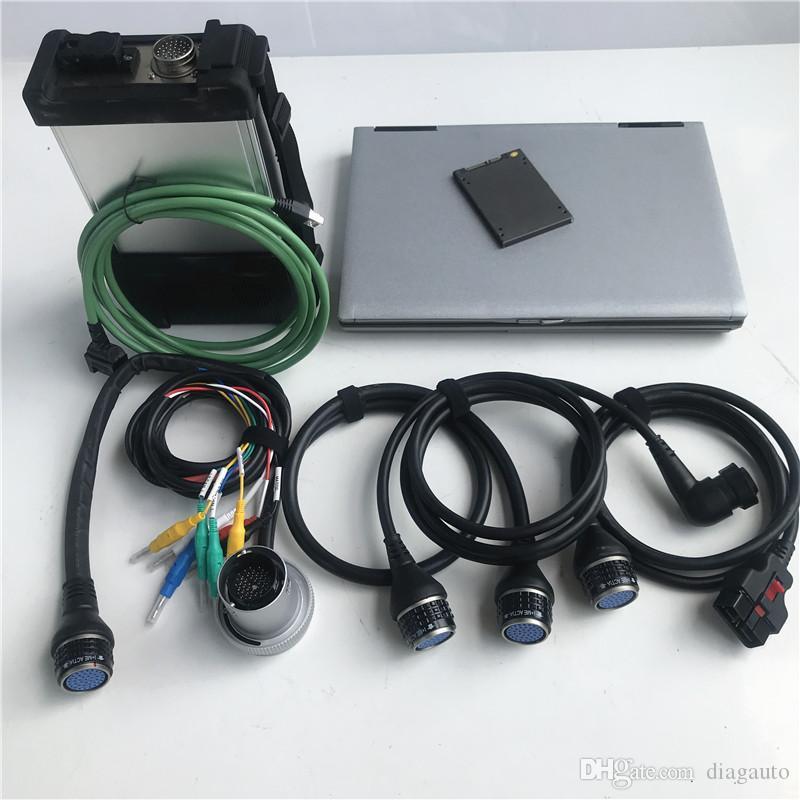 جديد ميغابايت نجمة C5 SD ربط C5 أداة تشخيصية للسيارات والشاحنات ميغابايت مع لينة وير 2020.03V vediamo / X / DSA / DTS في D630 تستخدم أجهزة الكمبيوتر المحمول