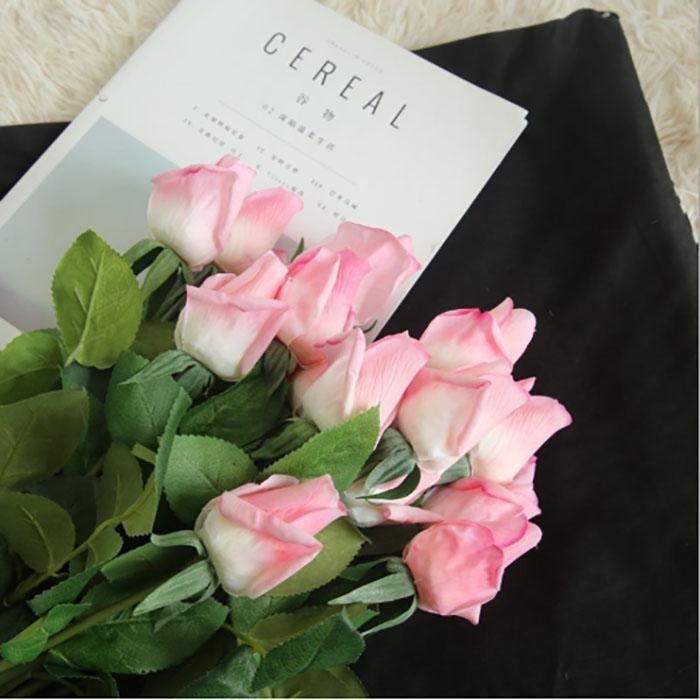 oda ev dekorasyon çiçek duvar düğün yatak odası dekorasyonu gelin buketi gerçekten dokunma yaşayan gül ipek çiçeği yapay çiçek tomurcuğu