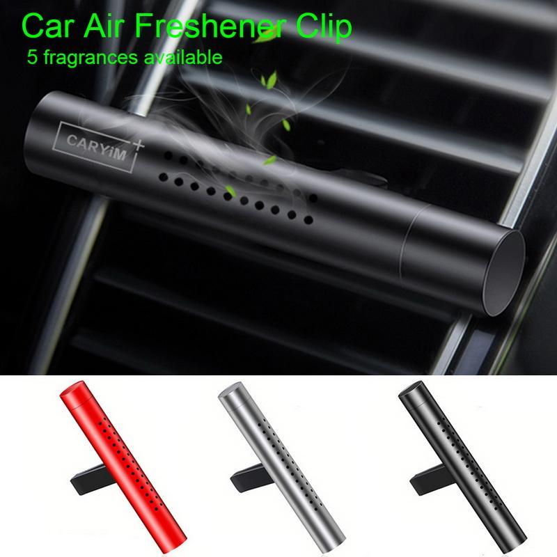 1pcs assainisseur d'air en alliage d'aluminium sortie automatique parfum de voiture climatisation clip aimant diffuseur purificateur solide