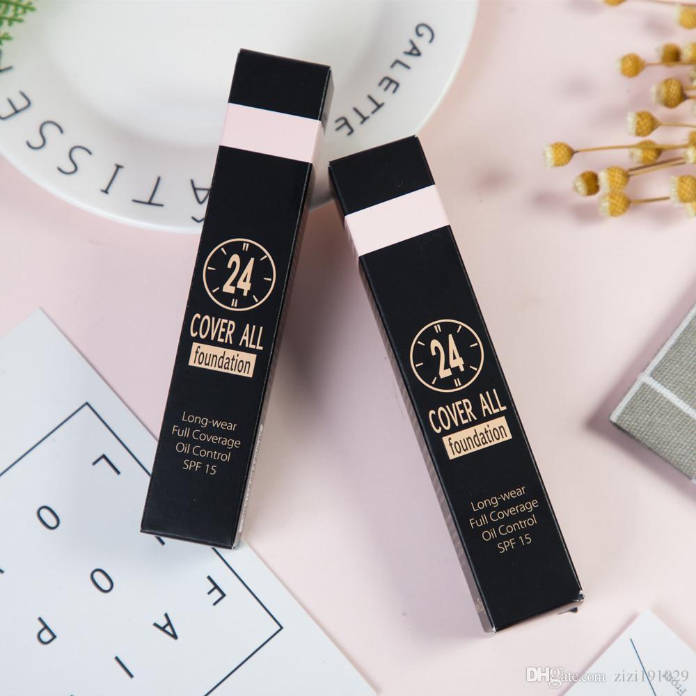 2019 Pronto para enviar Concealer Foundation Make Up Tampa Primer Concealer Base de Rosto Professional Makeup Contour Palette Maquiagem Base de Dados
