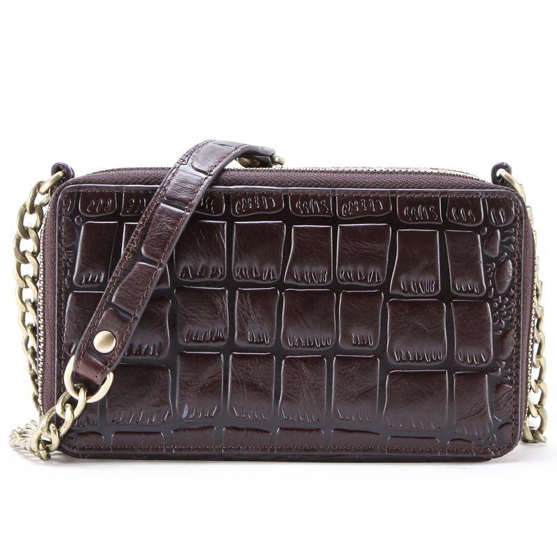 حقيبة سيدة التمساح نمط أزياء حبال مع سلسلة نلاحق نسيج في البساطة نمط الحجر يمكن أن تظهر طعم النبيلة