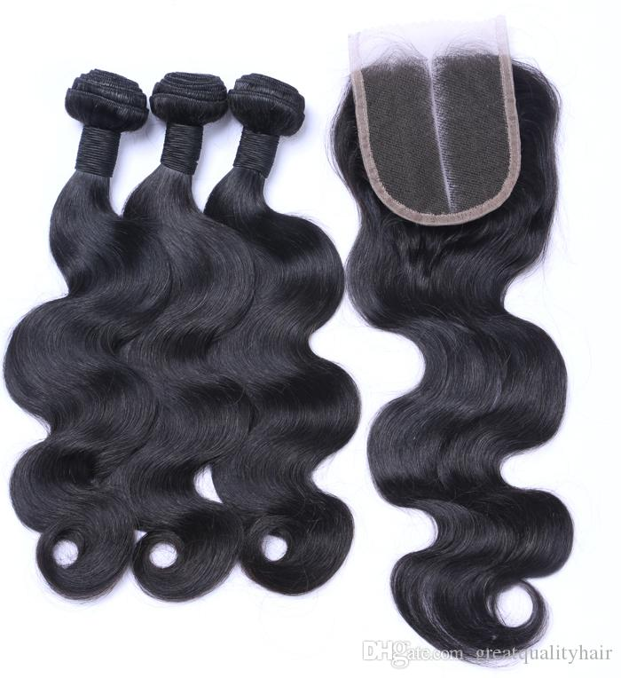 Wholesale 10A Indian Straight Body Deep Loose Wave Buy 3 Bundles Get 1 Free Closure Unprocessed Virgin Jerry Curly Brazilian Hair Wefts