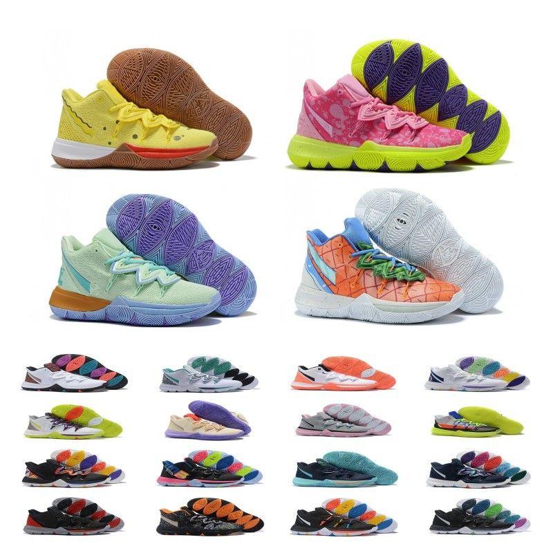 2020 Hot Boys Bambini Kyrie V 5 All-Star Basketball Shoes formazione Irving 5S Uomo Bambina gioventù Donne Zoom Sport Sneakers alta caviglia Size 36-40