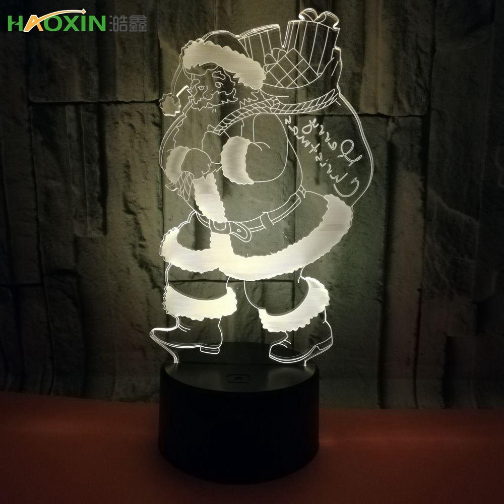 Haoxin كول الأعجوبة المنتقمون العنكبوت الرجل الحديدي الهيكل Deadpool 3D LED ليلة ضوء متعدد الألوان RGB نوم ديكور الاطفال هدايا عيد الميلاد ألعاب