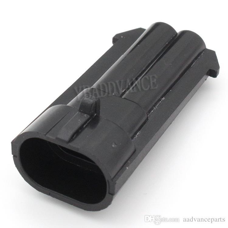12162000 Black Male Wasserdicht 2 Pin Auto Pbt GF30-Anschluss