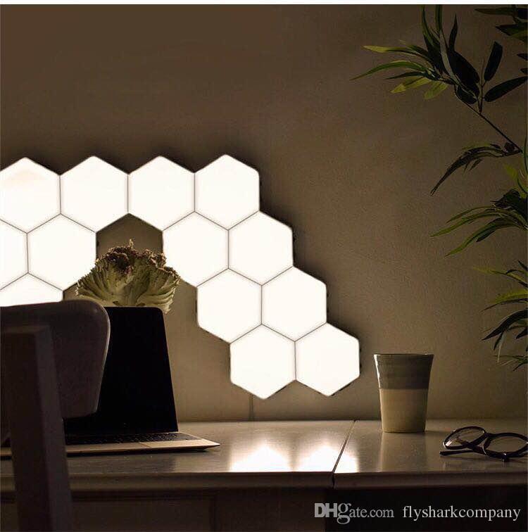 New LED Quantum Wall Lamp Hexagonal Modular Night Light Lighting Touch Sensitive