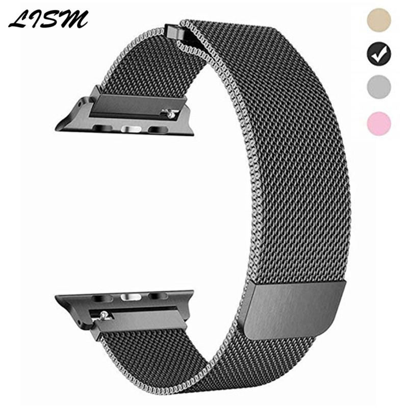 Milanese Loop For Apple Watch Bands 42mm 38mm 44mm Magnetic Buckle Stainless Steel Bracelet Band Strap For iWatch Series 4 3 2 1