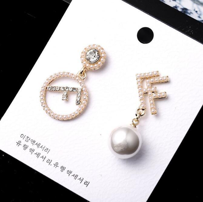 925 ago argento nuovo cerchio moda orecchini temperamento femminile personalità semplice geometrica perla orecchini lettera orecchio gioielli