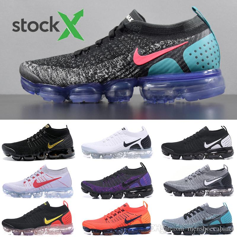 2019 Knit 2.0 Fly 1.0 Men Women BHM Red Orbit Metallic Gold Triple Black Designers Sneakers Trainers Running Shoes size 36-45 KKIT2
