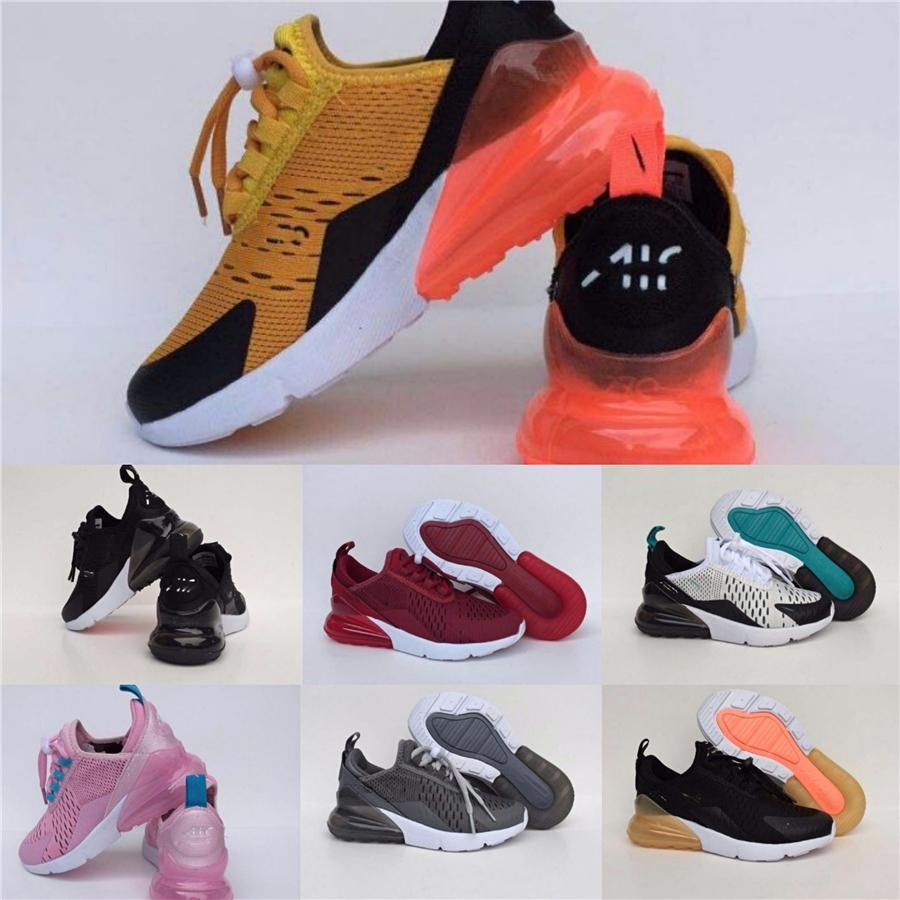 Breathable Static Boys Girls Kids Outdoor Sports Shoes Yellow Black Pink Basketball Shoes Toddlers Running Shoes Sport Sneakers Eur21-30 #437