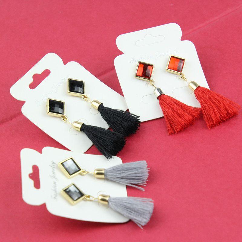유럽과 미국의 대외 무역 술의 귀걸이 다이아몬드 모양의 보석 패션 팝 귀걸이