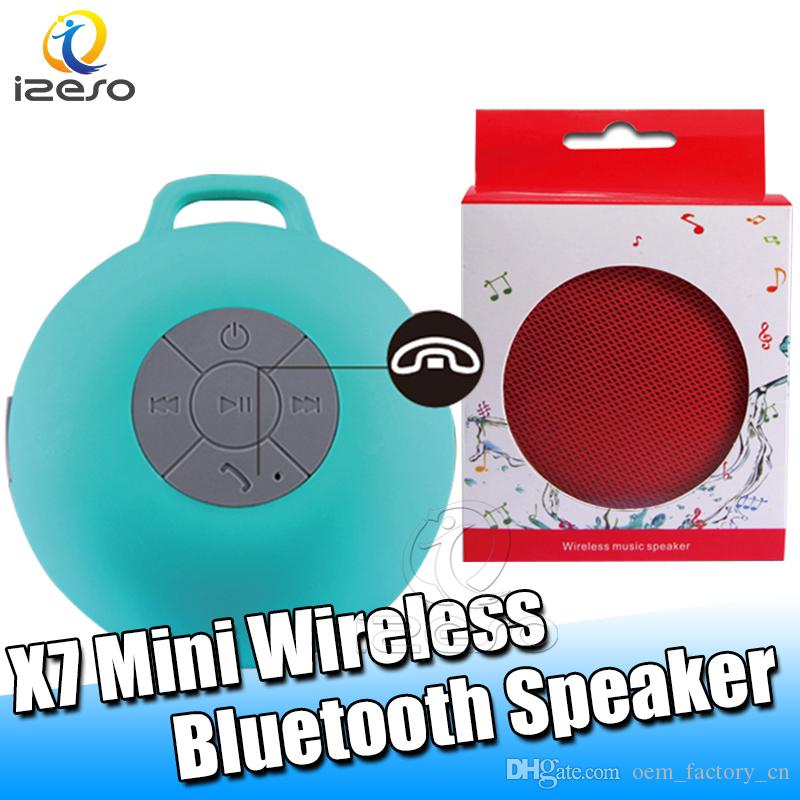 X7 Bluetooth 4.1 Wireless Speaker Portable Outdoor Buckle Cloth Art Speaker Super Bass Handsfree Mini Speakers with Retail Packaging izeso