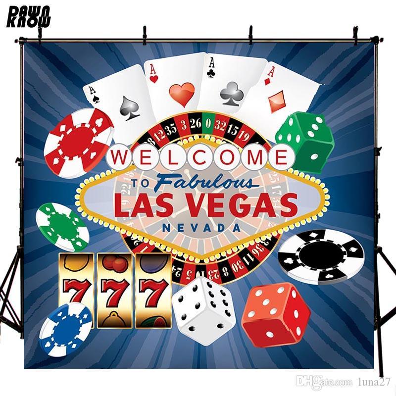 Веселый Лас-Вегас Виниловой Фотография Фоновых фоны для Новорожденного Poker Фото Фона для свадебного фото студии Настройка lv408