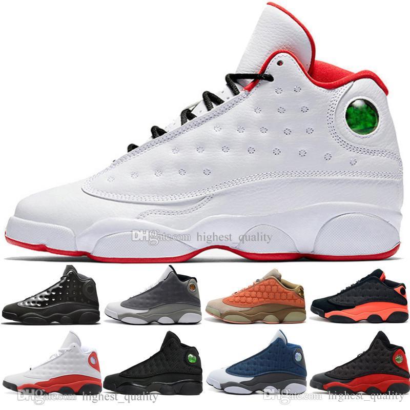 Hot baratos 13 13s boné e um vestido Terracotta Blush Mens tênis de basquete Chicago negros Flints infravermelhos Bred homens do esporte das sapatilhas