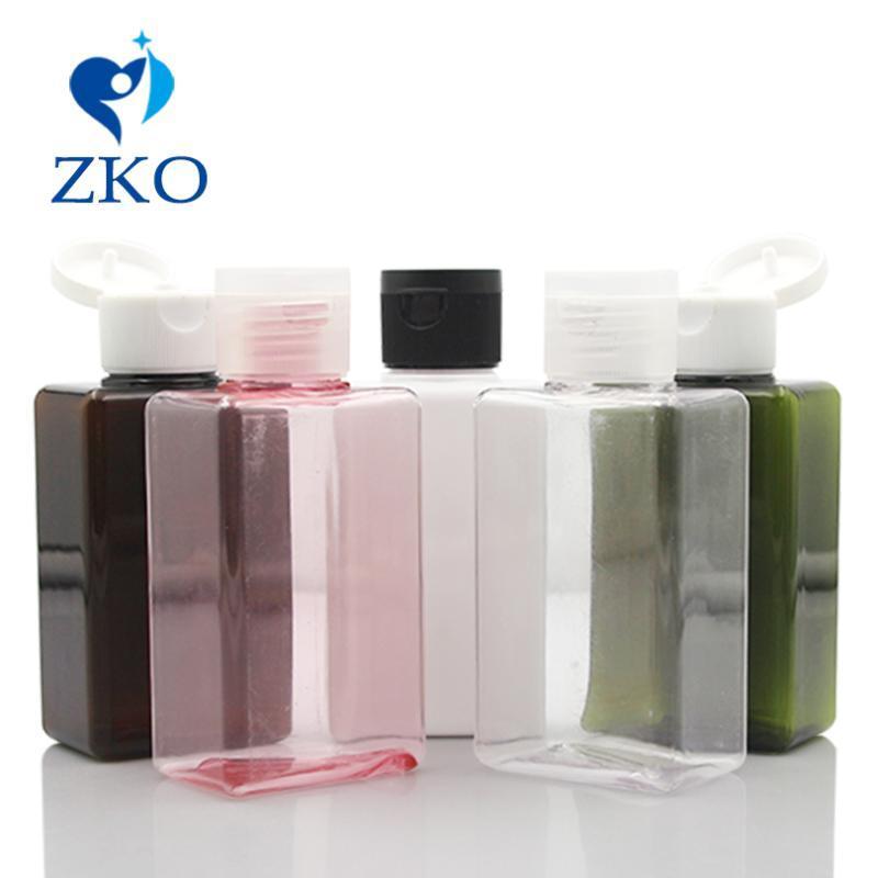 1 pc bouteille PETG forme carrée d'expédition libre de capuchon flip top pour bouteilles emballage en plastique cosmétique Cosmétique
